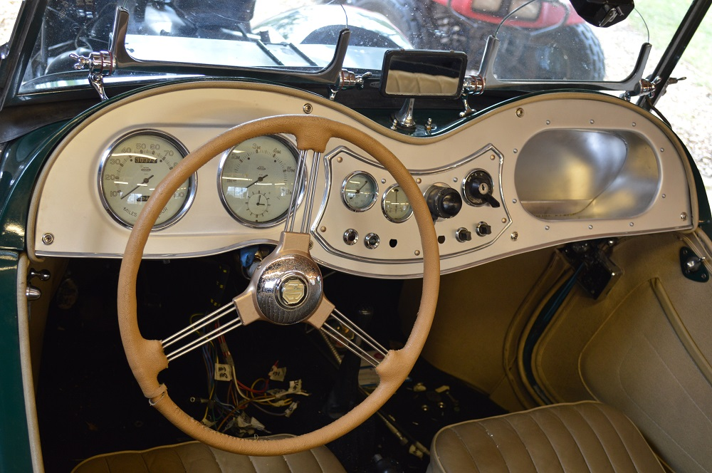 Classic car dash