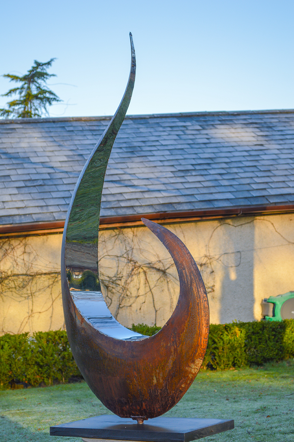 steel and mild steel sculpture