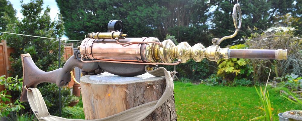 steampunk sculpture gun